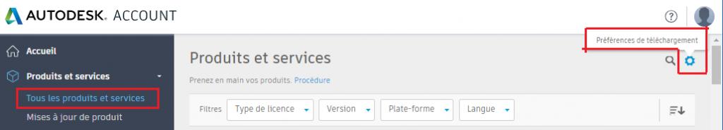 Autodesk account, téléchargement logiciels autodesk